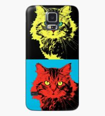 CAT POP ART  yellow red green Case/Skin for Samsung Galaxy