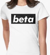 Beta / Words That Mean Something Totally Different When You're A Gamer  Women's Fitted T-Shirt