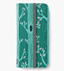 Emerald forest. Seamless pattern with trees iPhone Wallet/Case/Skin