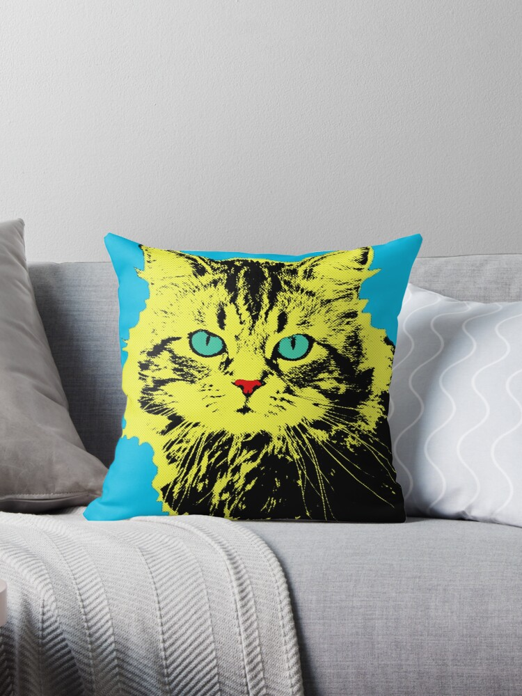 CAT POP ART  YELLOW by NYWA-ART