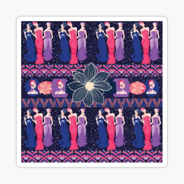 Art Deco Ladies Sticker