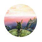 Sunset Korok- Legend of Zelda Oil Painting FanArt by fugitiverabbit