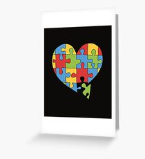 Puzzle heart Greeting Card