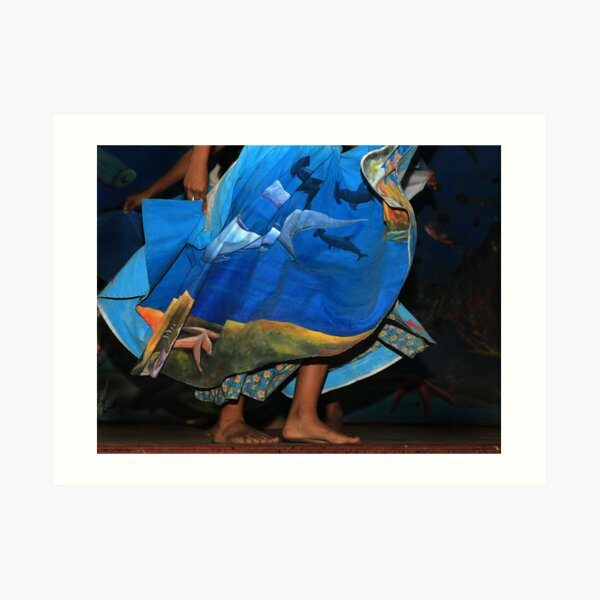 Dancer in Blue Art Print