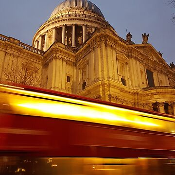 St Paul's Red Bus Blur (London) by jezkemp