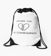 loving you had consequences by camila cabello Drawstring Bag