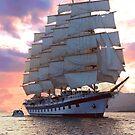Twilight sail! by Nancy Richard