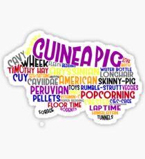 Guinea Pig Word Cloud Sticker