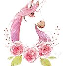 Magical Unicorns in pink by texashandmade