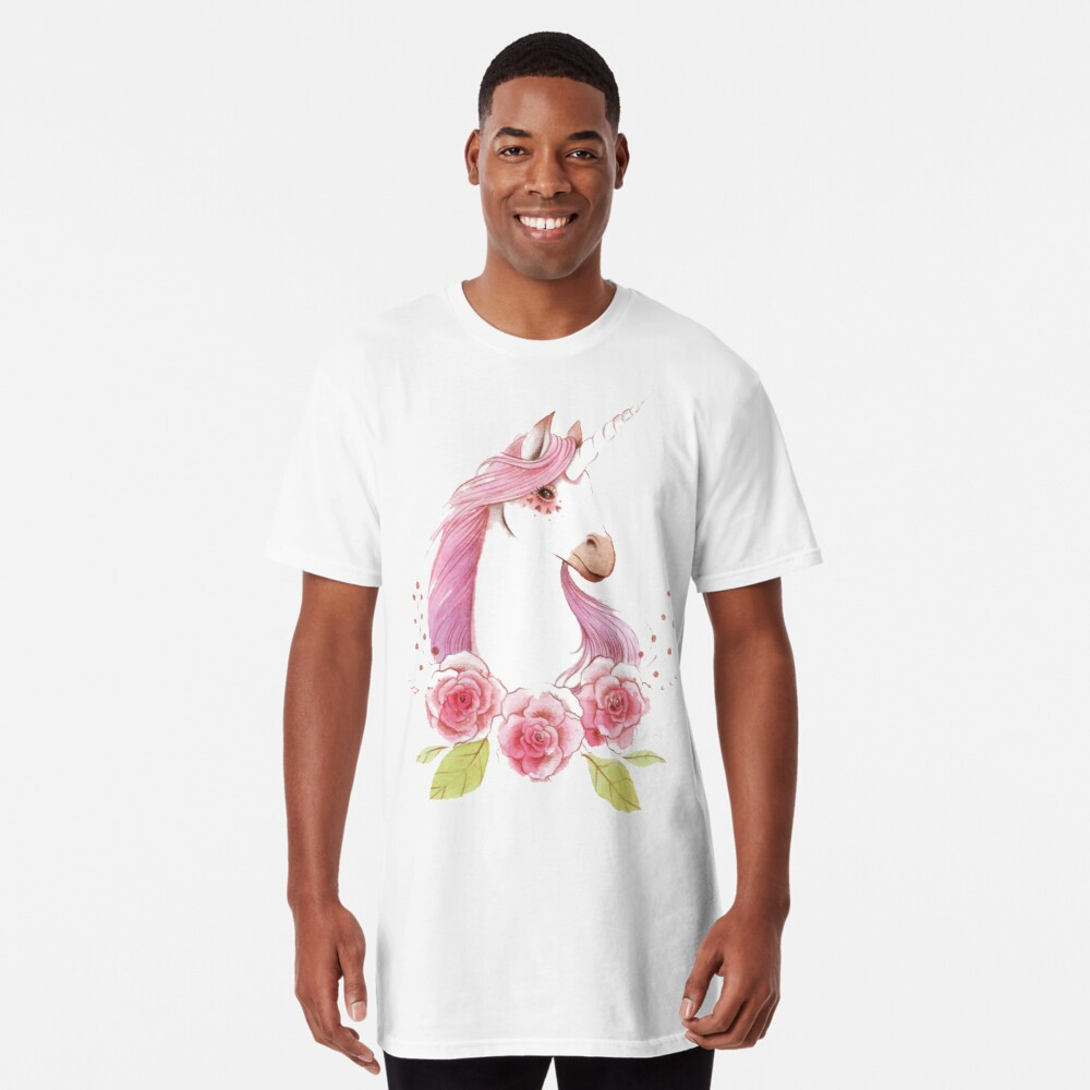 Magical Unicorns in pink Long T-Shirt