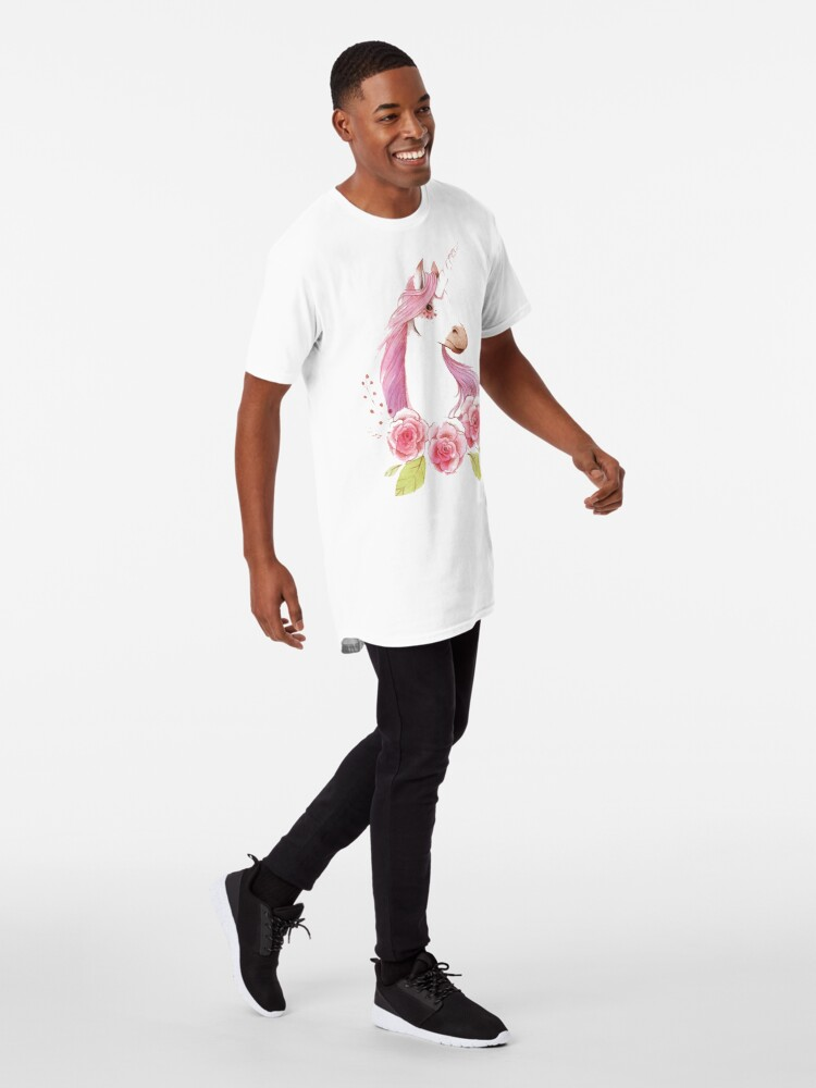 Alternate view of Magical Unicorns in pink Long T-Shirt