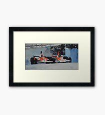 Niki Lauda vs James Hunt  Framed Print