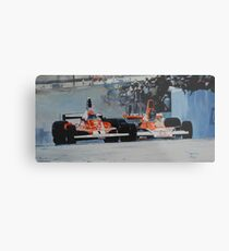 Niki Lauda vs James Hunt  Metal Print