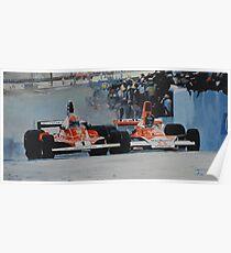 Niki Lauda vs James Hunt  Poster
