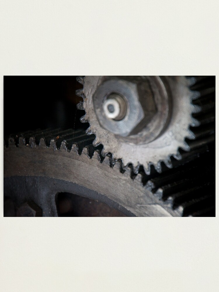 Alternate view of Gears Photographic Print