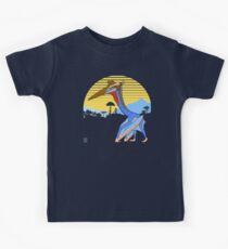 Pterosaur Sunset (Dark Version) Kids Tee