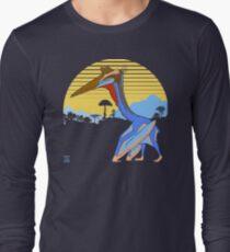 Pterosaur Sunset (Dark Version) Long Sleeve T-Shirt