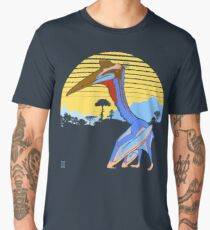 Pterosaur Sunset (Dark Version) Men's Premium T-Shirt