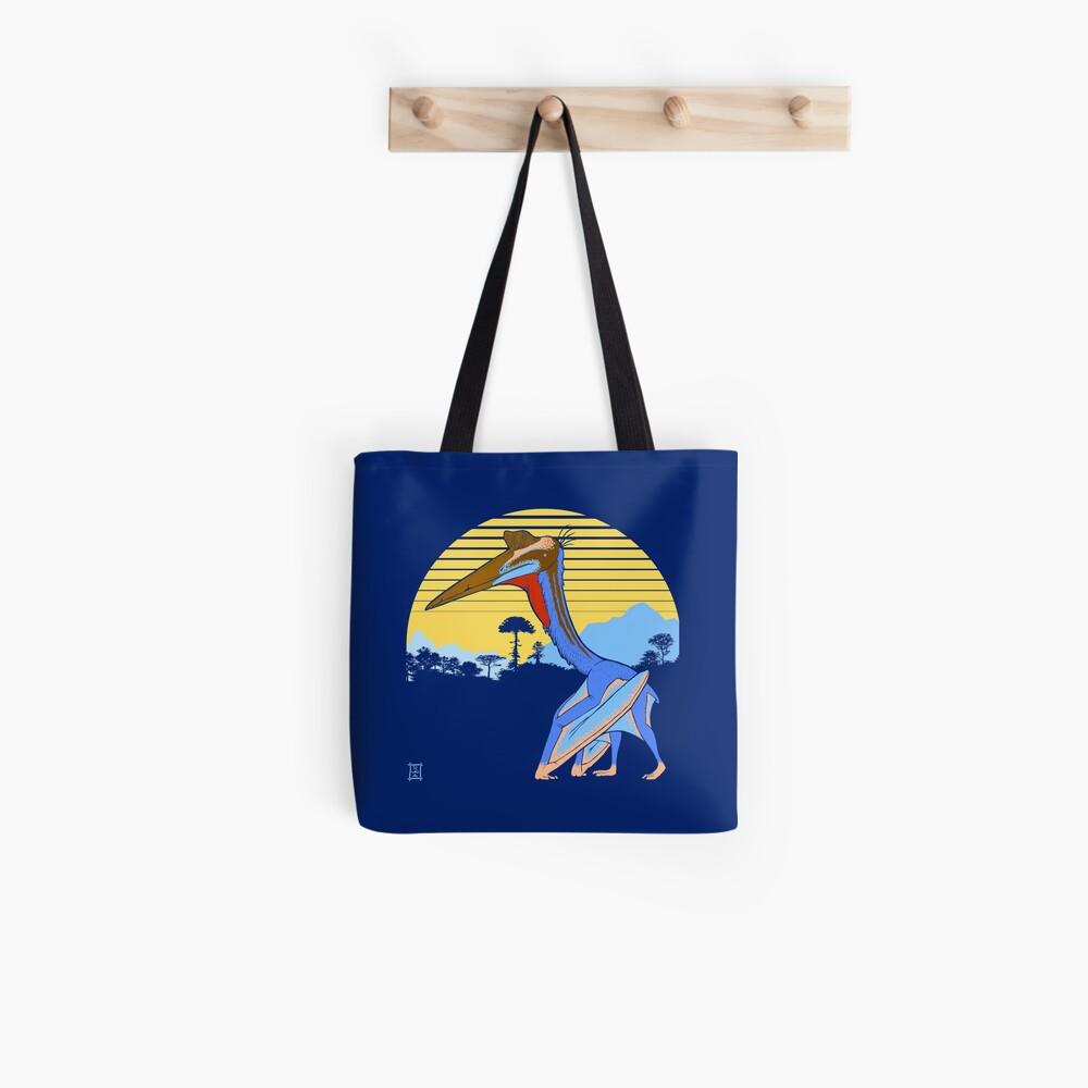 Pterosaur Sunset (Dark Version) Tote Bag
