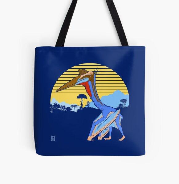 Pterosaur Sunset (Dark Version) All Over Print Tote Bag
