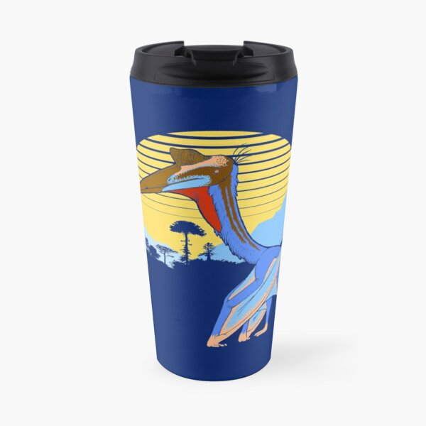 Pterosaur Sunset (Dark Version) Travel Mug