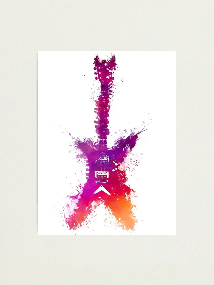 Alternate view of Purple Guitar Photographic Print