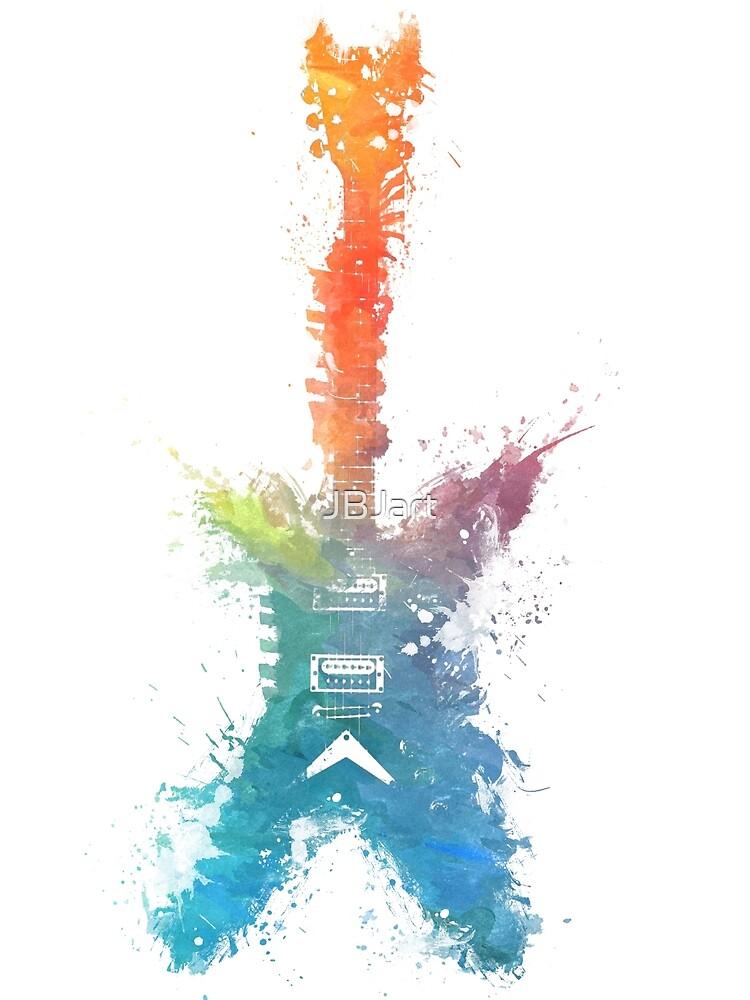 Colored guitar by JBJart