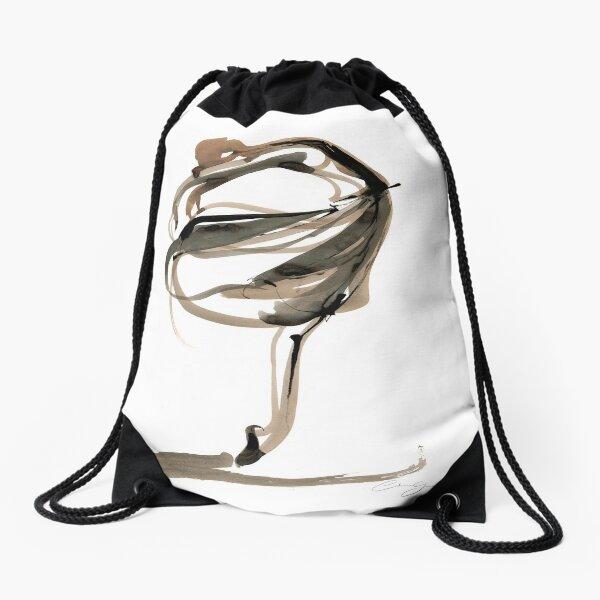 Ballet Dance Drawing Drawstring Bag