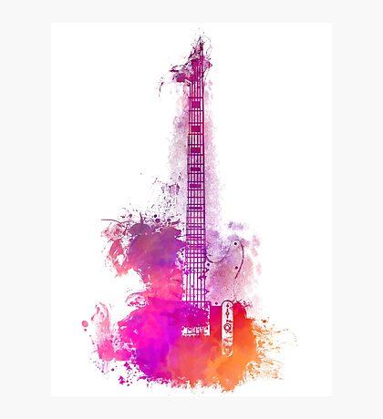 Purple Acoustic guitar Photographic Print