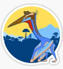 Pterosaur Sunset (Light Version) Sticker
