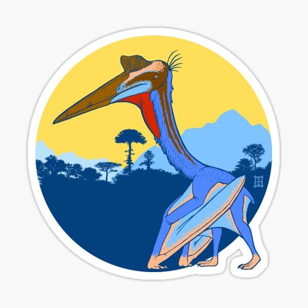 Pterosaur Sunset (Light Version) Sticker