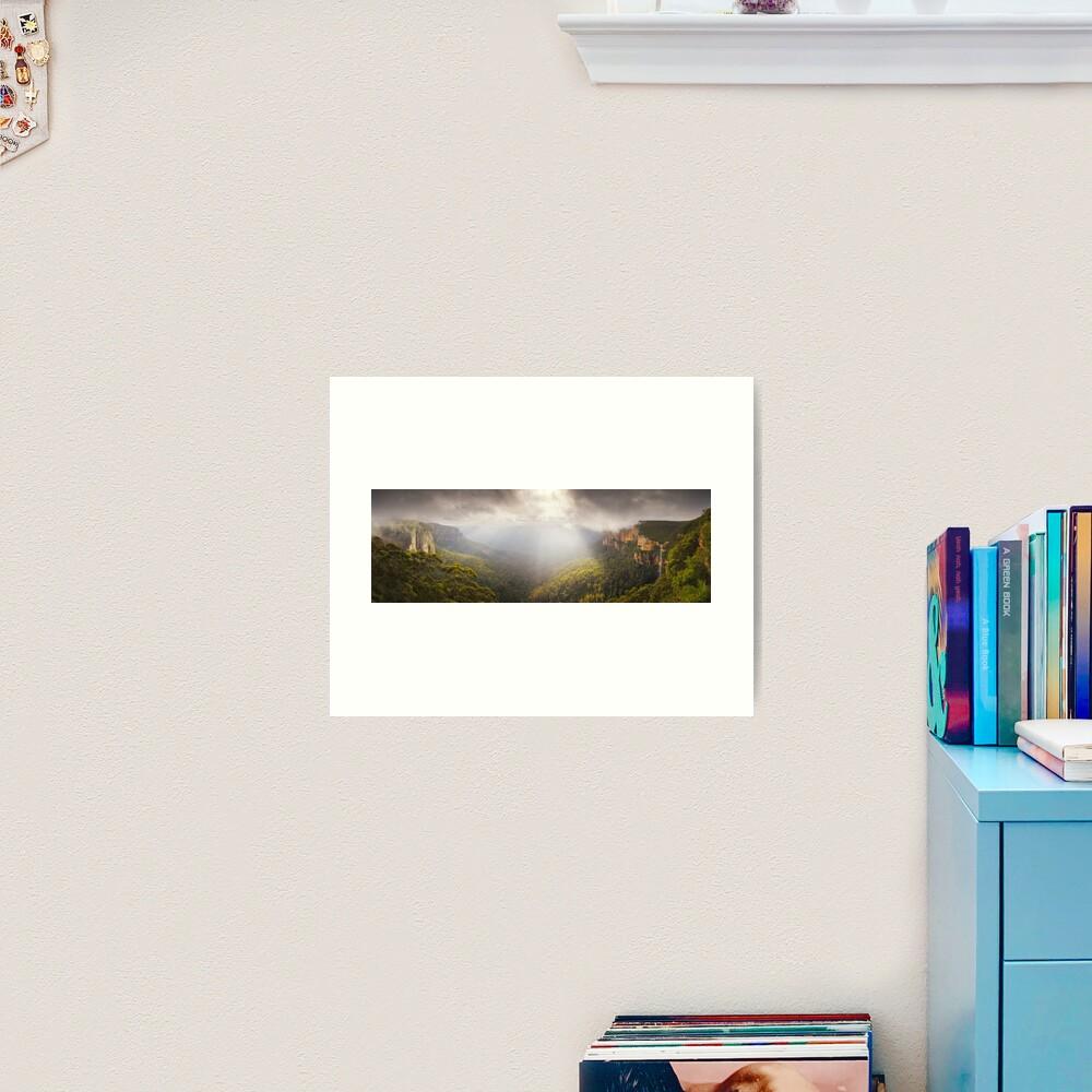 Govetts Leap Awakens, Blue Mountains, New South Wales, Australia Art Print