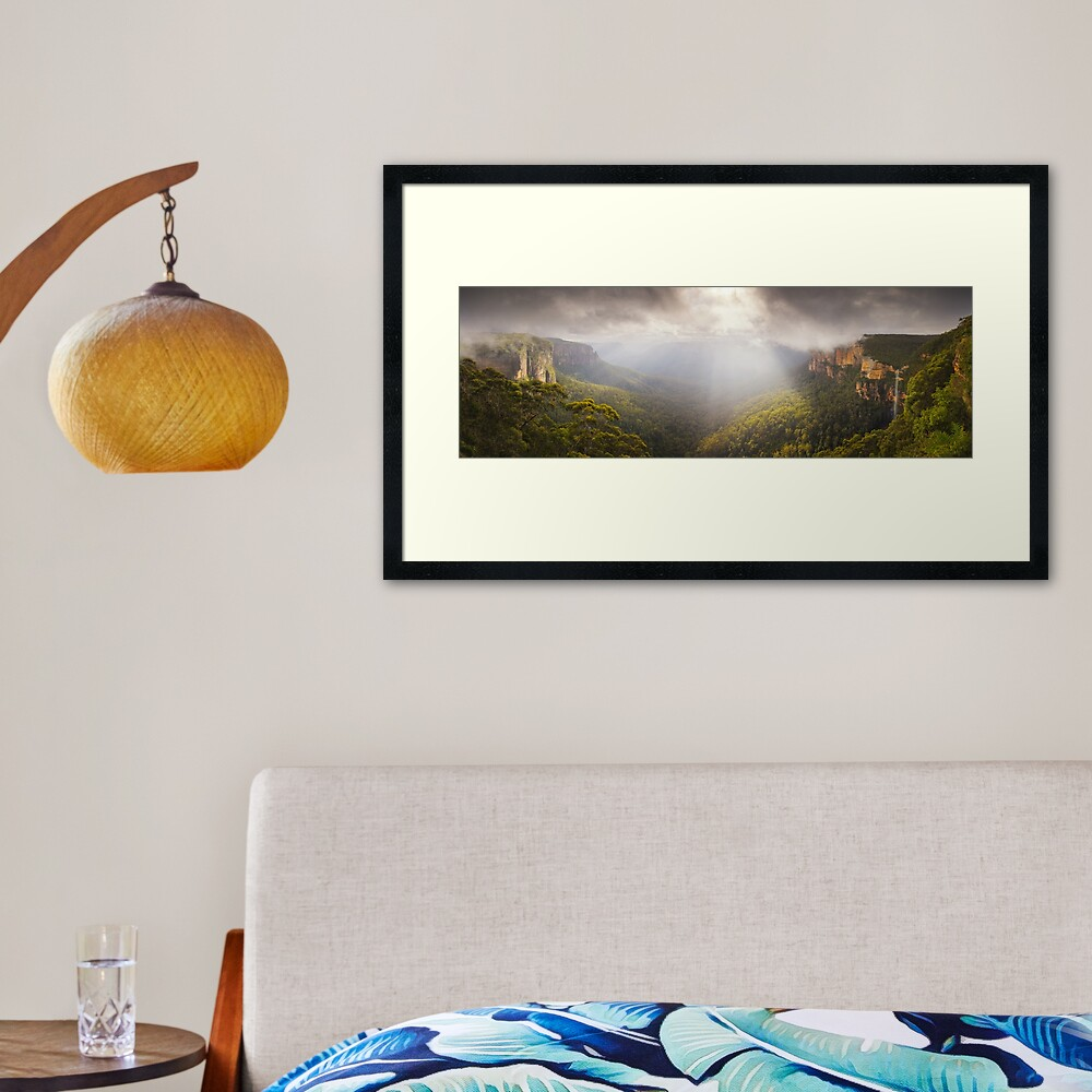 Govetts Leap Awakens, Blue Mountains, New South Wales, Australia Framed Art Print