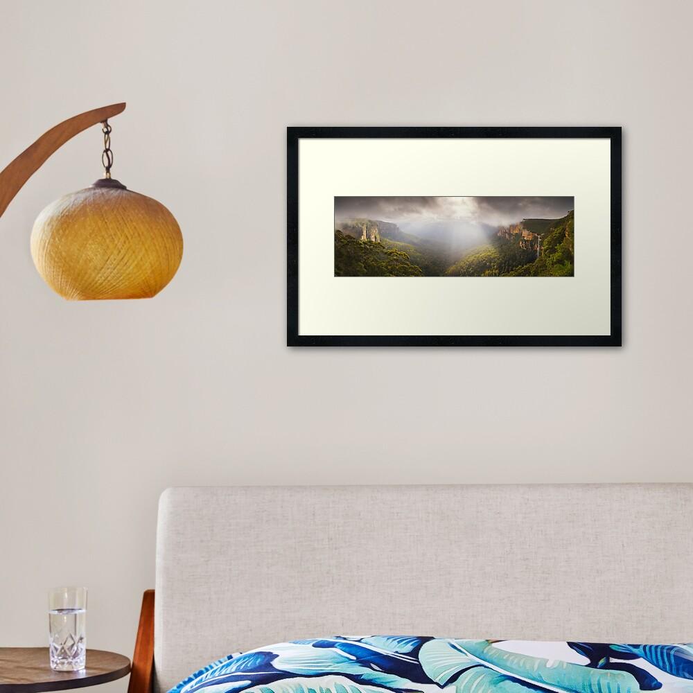 Govetts Leap Awakens, Blue Mountains, New South Wales, Australia Framed Art Print