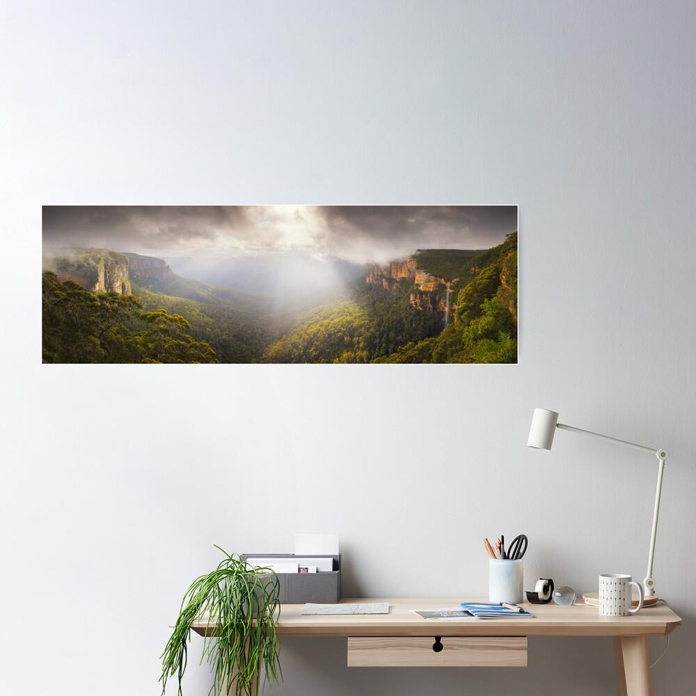 Govetts Leap Awakens, Blue Mountains, New South Wales, Australia Poster