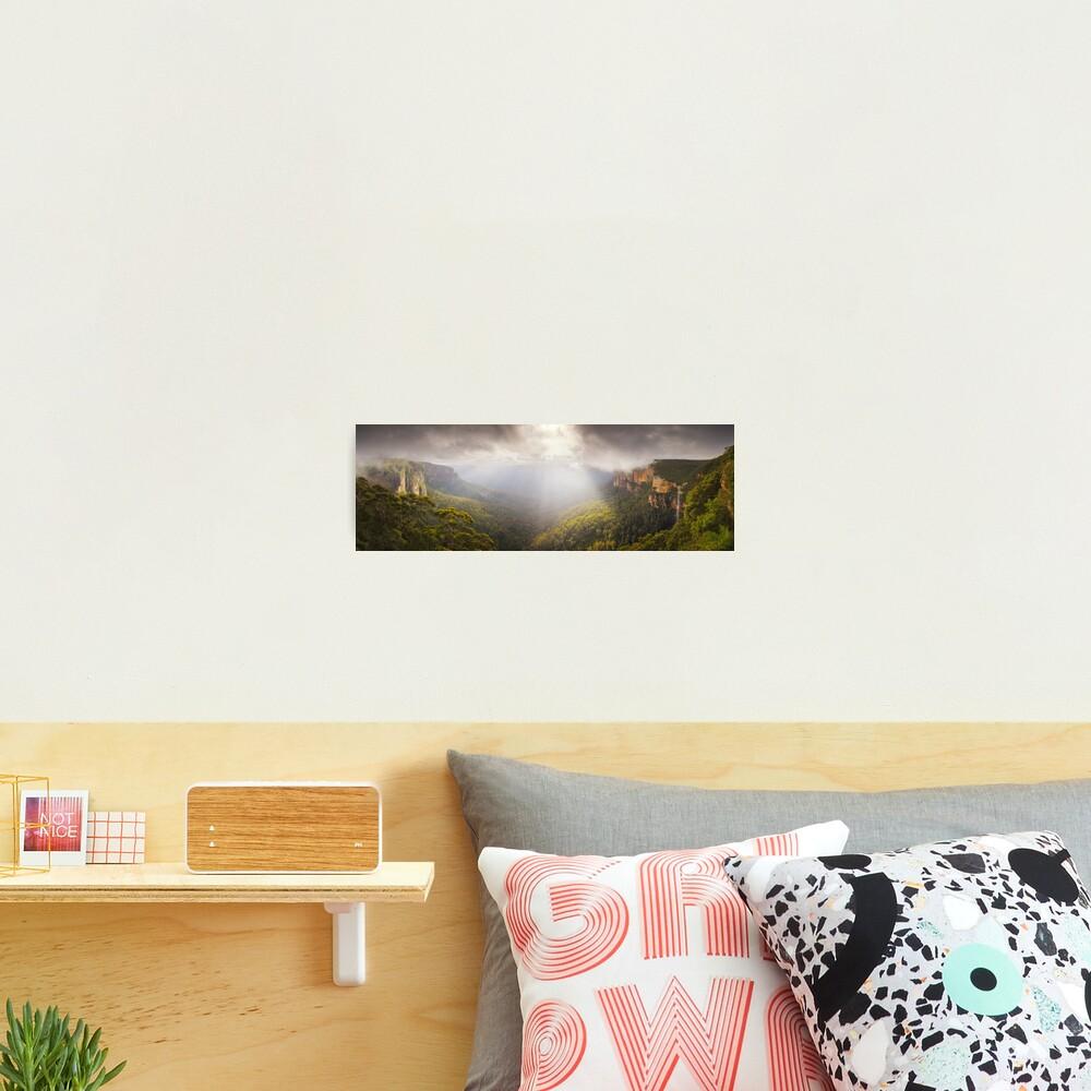 Govetts Leap Awakens, Blue Mountains, New South Wales, Australia Photographic Print
