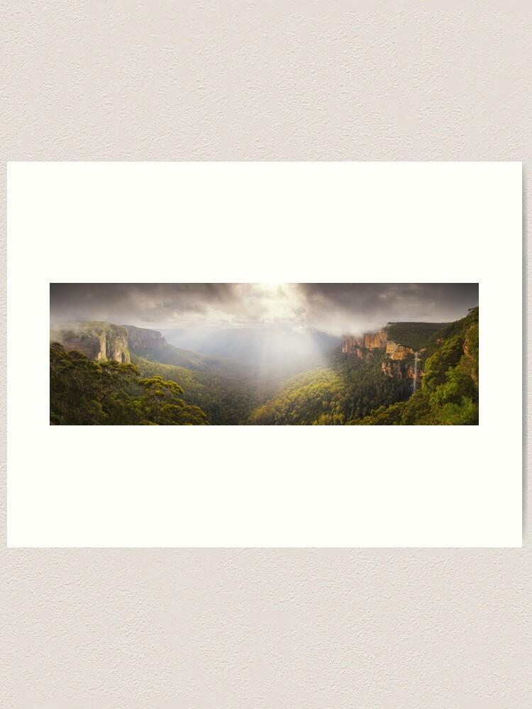 Alternate view of Govetts Leap Awakens, Blue Mountains, New South Wales, Australia Art Print