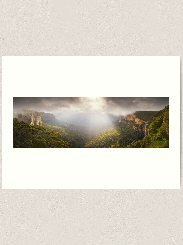 Alternate view of Govetts Leap Awakens, Blue Mountains, New South Wales, Australia Art Print