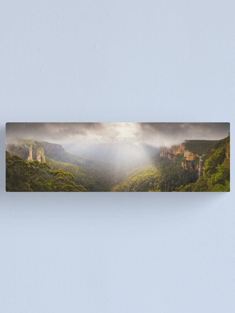 Alternate view of Govetts Leap Awakens, Blue Mountains, New South Wales, Australia Canvas Print