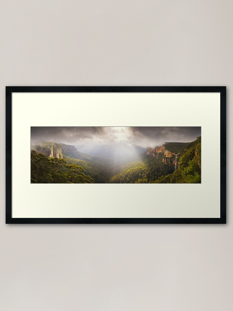 Alternate view of Govetts Leap Awakens, Blue Mountains, New South Wales, Australia Framed Art Print