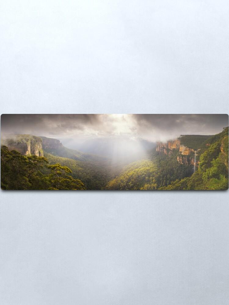 Alternate view of Govetts Leap Awakens, Blue Mountains, New South Wales, Australia Metal Print