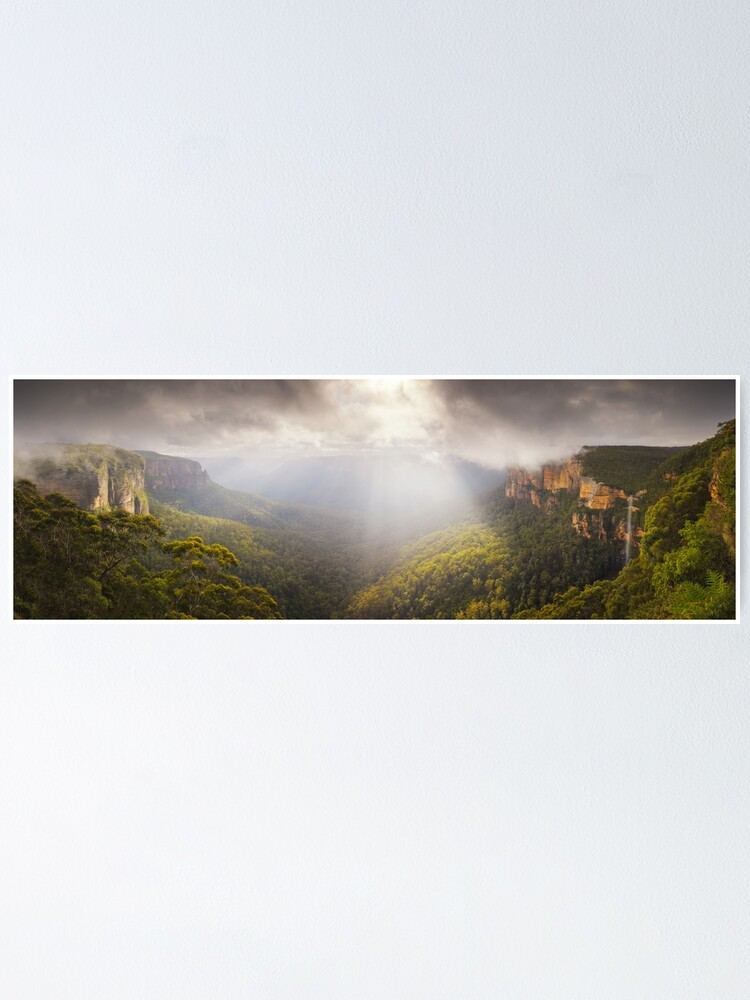Alternate view of Govetts Leap Awakens, Blue Mountains, New South Wales, Australia Poster