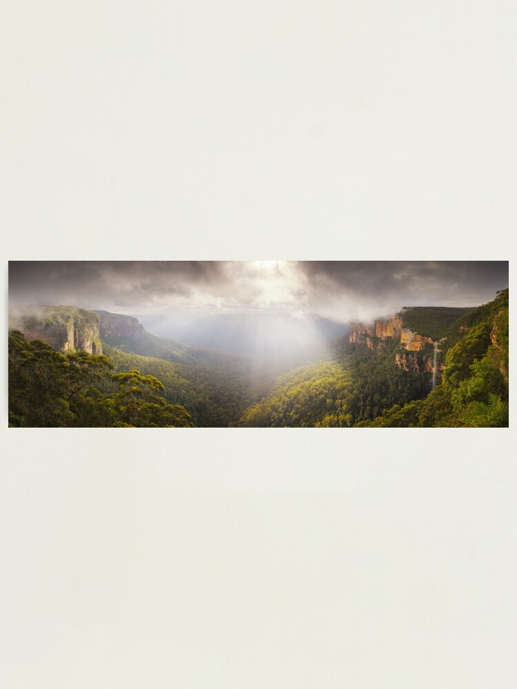Alternate view of Govetts Leap Awakens, Blue Mountains, New South Wales, Australia Photographic Print