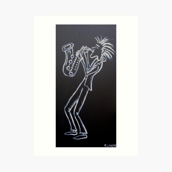 LAID BACK SAX Art Print