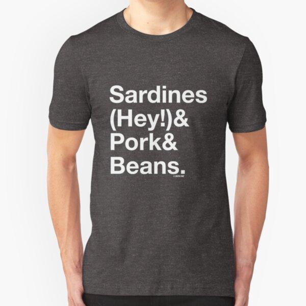 Sardines & Pork & Beans Slim Fit T-Shirt