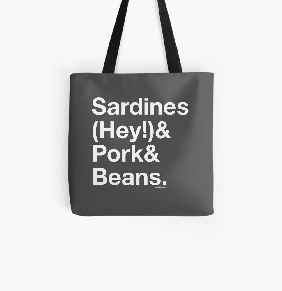 Sardines & Pork & Beans All Over Print Tote Bag