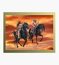 KARL MAY ~ Winnetou and Old Shatterhand by tasmanianartist for Karl May Friends Photographic Print