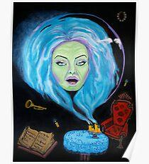 Floating Leota Seance Scene Poster