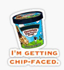 Chip-Faced Sticker