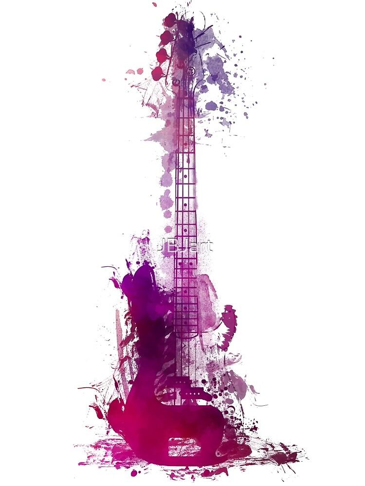 Funky purple guitar by JBJart